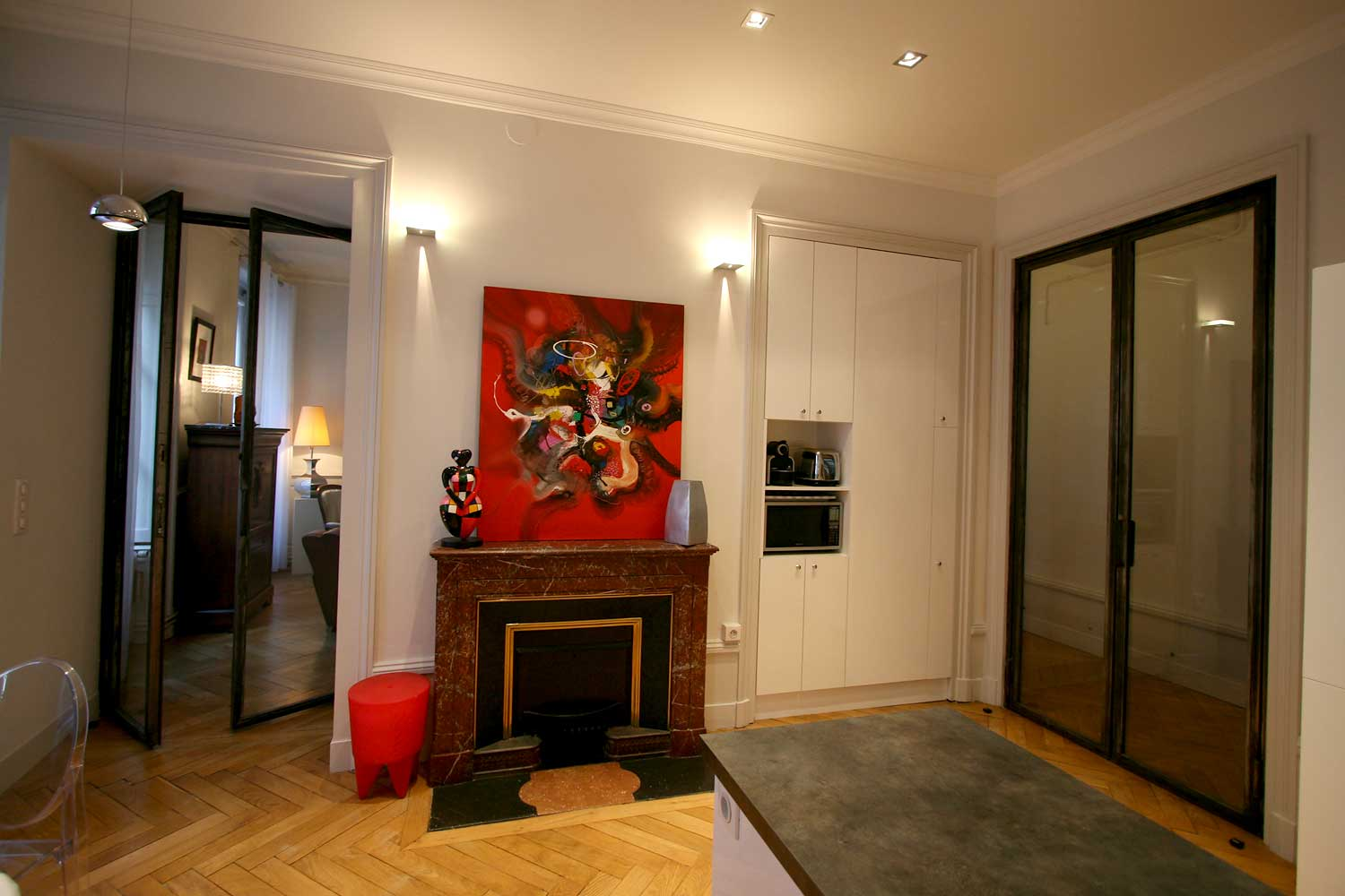 travaux de r novation d 39 appartement haussmannien paris 5 r nov 39 btp. Black Bedroom Furniture Sets. Home Design Ideas